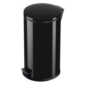 Pedalspand Pure L 25 liter med galvaniseret inderspand – Sort