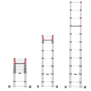 Hailo kompakt Teleskopstige T80 i aluminium – FlexLine 9-13 Trin