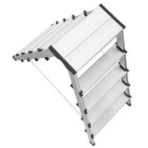 Trappestige dobbelt 2×5 eller 2×7 trin – Aluminium