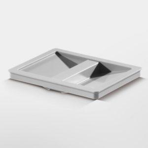 Låg til affaldsspand – inderspand til 6,5 liter – grå plast