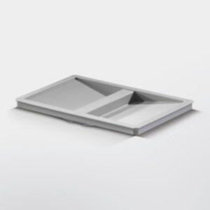 Låg til affaldsspand – inderspand til 15, 18 & 20 liter – grå plast